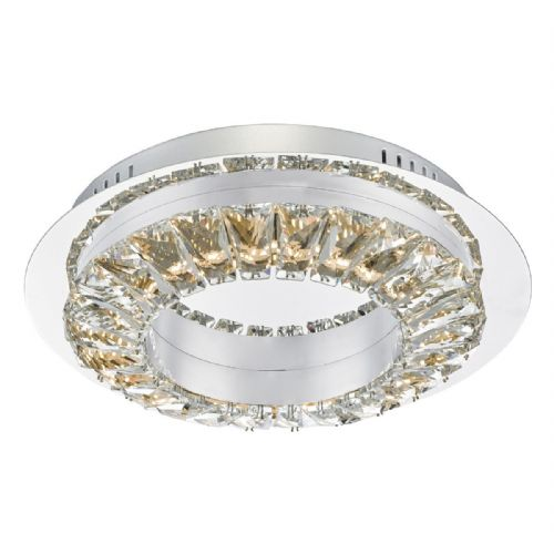 Altamura Flush Polished Chrome & Crystal Led (Double Insulated) BXALT5250-17